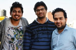 Justdoc.com founders (L-R) Jugal Anchalia, Vikash Singh and Abhishek Kumar