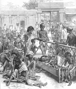 British taxation policies and plunder ruined Indian agriculture and caused famines, like in Bangalore in 1876-78. Photo: The illustrated London News