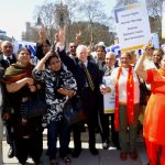 Indian Diaspora protesting in UK against the caste-discrimination.