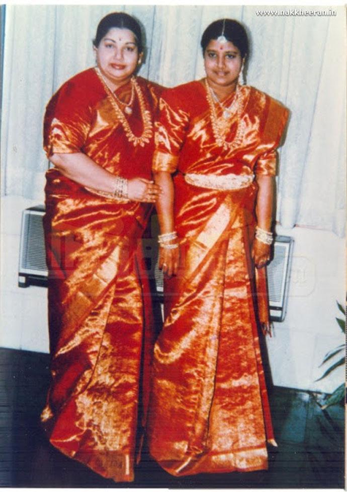 Jayalalithaa with Sasikala Natarajan