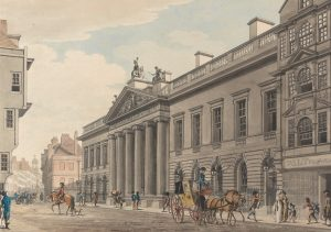 The East India House in London, which was the headquarters of the East India Company. Photo: Wikimedia/Thomas Malton the younger