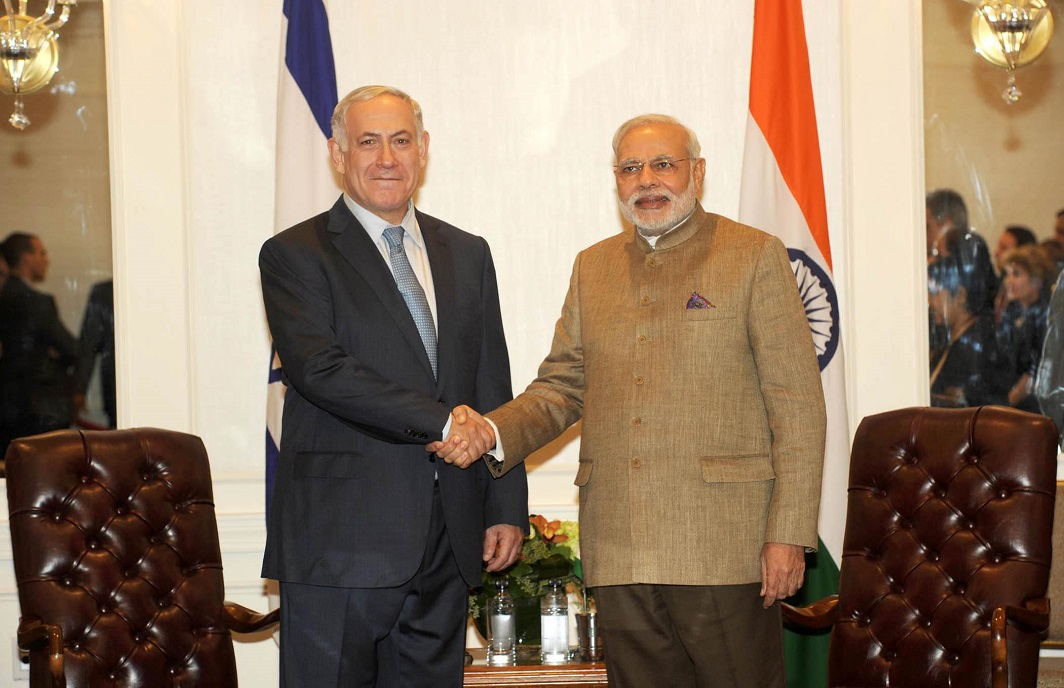 Prime Minister of Israel, Benjamin Netanyahu meeting the Indian Prime Minister, Narendra Modi, in New York. Photo: UNI