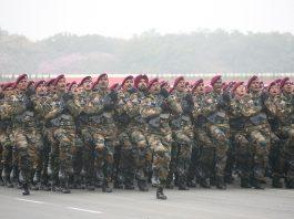 Army jawans taking part in Army Day parade, 2016 in New Delhi. Photo: Anil Shakya