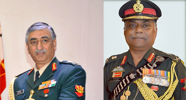 (L-R) Lt General Praveen Bakshi and Lt General PM Hariz were in the race to become the next army chief
