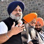 Punjab Deputy Chief Minister Sukhbir Singh Badal addressing the press in Chandigarh. Photo: UNI