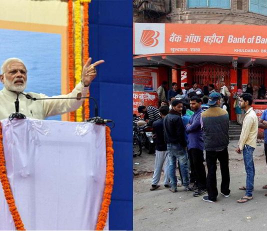 (L-R) PM Modi has gained personally as the demonetisation move has projected him as a decisive and strong leader; the people, despite all odds, are not yet ready to criticise Modi. Photos: UNI
