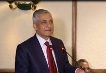 Former CJI TS Thakur speaking at his farewell function. Photo: APN News