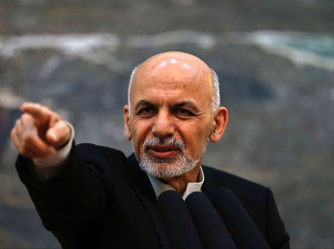 Afghan President Ashraf Ghani feels that those who want peace must adhere to the country's constitution. Photo: UNI