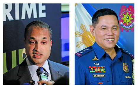 (L-R) In 2014, a big cyber sex gang operating from the Philippines was busted. Among those who helped crack the case were Sanjay Virmani, Director of Digital Crime Center, Interpol, and Alan Purisima, Philippines Police Chief