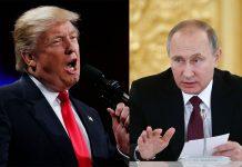 US president-elect Donald Trump and Russian president Vladimir Putin. Photos: UNI