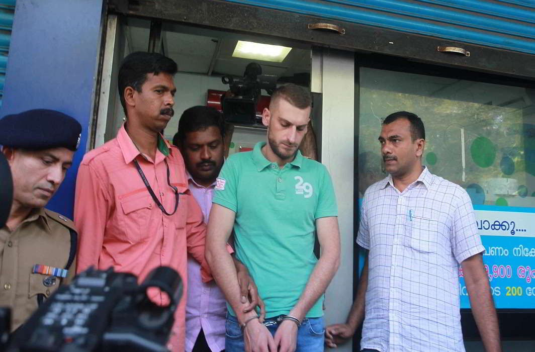 Gabriel Marian from Romania is the main accused in a hi-tech ATM fraud case in Thiruvananthapuram. Photo: UNI