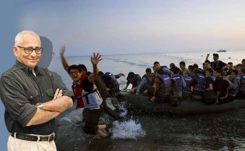 Afghan refugees arrive at the Greek island of Kos on an overcrowded dinghy. Photo: UNI