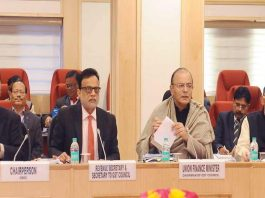 Finance Minister Arun Jaitley chairing the GST Council Meeting in Delhi in January this year. Photo: PIB