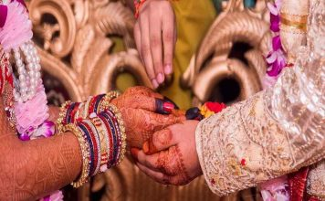 A typical Indian wedding ceremony