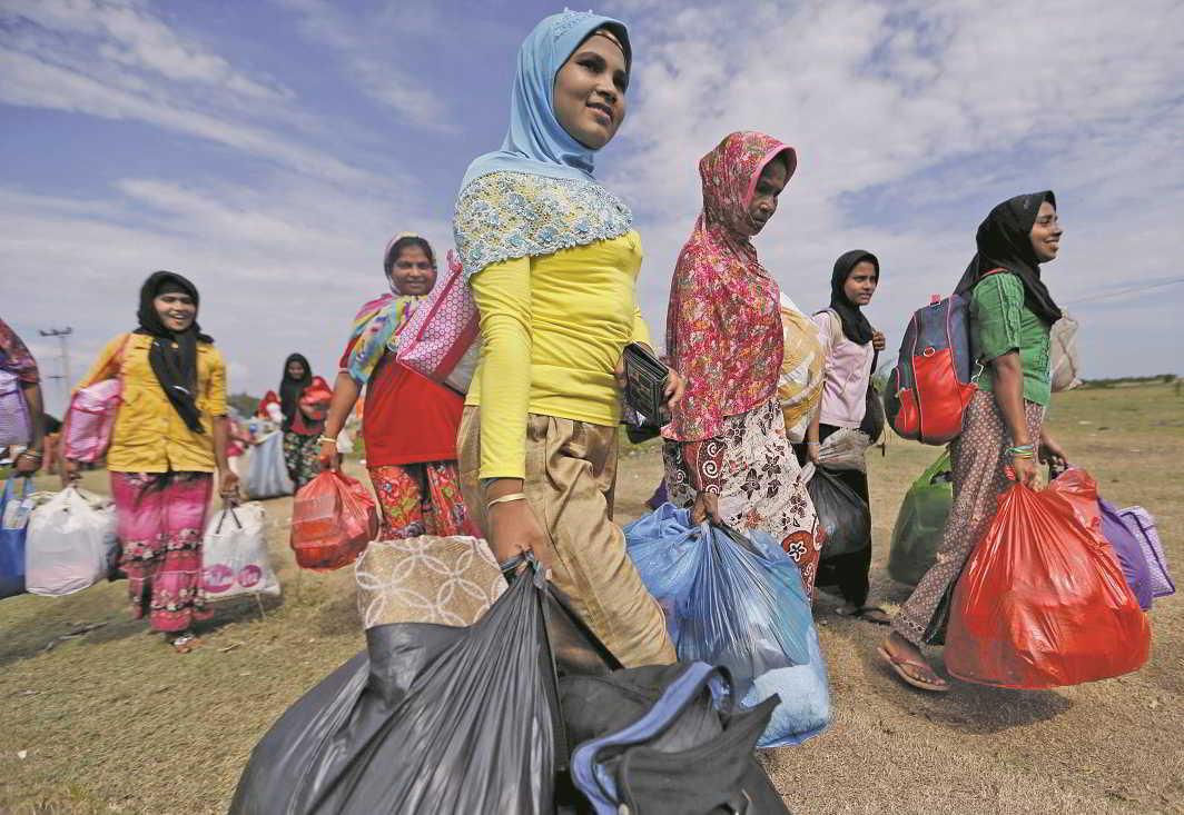 Rohingya migrant women in Indonesia. Photo: UNI