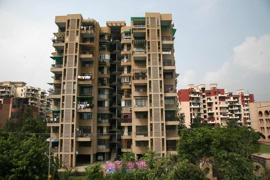 Builders are increasingly building vertically to save on land and to maximise profits. Photo: Anil Shakya