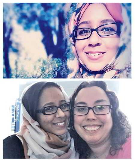 Suha Abushamma (top); Abushamma with Dr Abby Spencer of the Cleveland Clinic.
