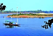 Sukhna Lake in Chandigarh is being kept alive by pumping in water.