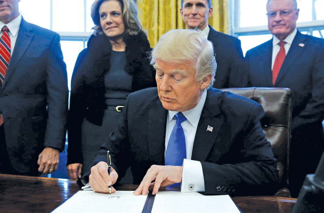 President Trump's Executive Order on the visa ban has triggered outrage and chaos in equal measure. Photo: UNI