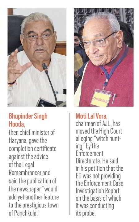 (L-R) Bhupender Singh Hooda. Moti Lal Vora