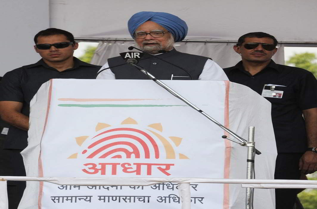 The Aadhaar was the idea of Manmohan Singh's government to empower Indian citizens with a unique identity. Photo: PIB