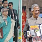 Bangladesh PM Sheikh Hasina's (left) animosity against Muhammad Yunus dates back to 2007. Photo Sheikh Hasina: UNI; Photo Muhammad Yunus: nobelprize.org