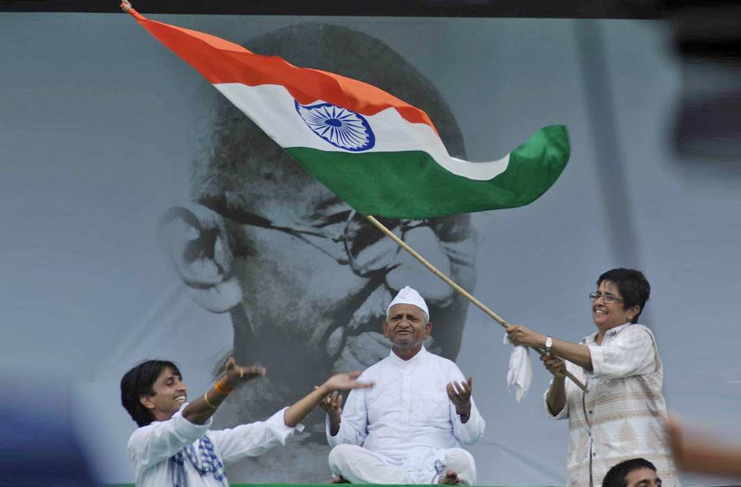 Anna Hazare started a Satyagraha movement by commencing a fast unto death in New Delhi to demand the passing of the Lokpal Bill