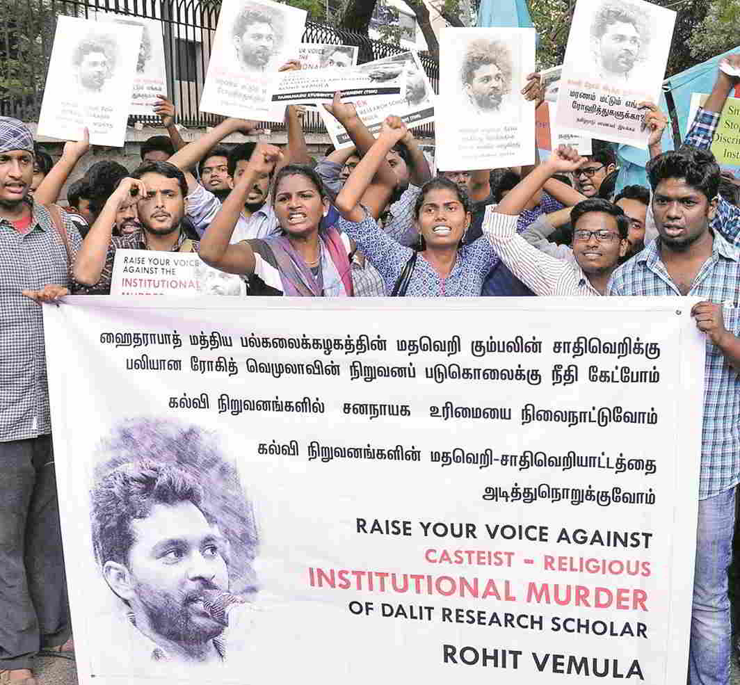 The country witnessed widespread student protests following Rohith Vemula's suicide. Photo: UNI