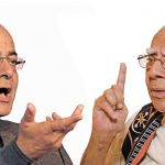 Arun Jaitley (photo: Rajeev Tyagi); Ram Jethmalani (photo: Anil Shakya