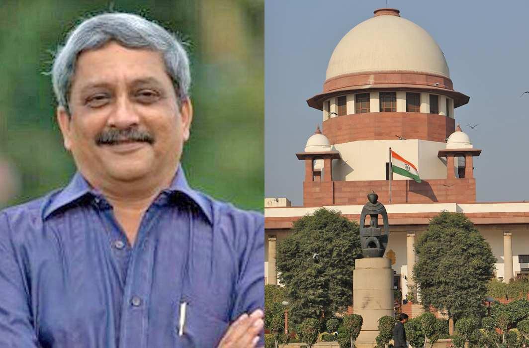 Goa CM-designate Manohar Parrikar (Twitter); Supreme Court (Bhavana Gaur)