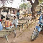 highway commuters take a break at a dhaba.