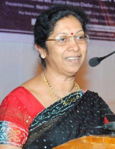Justice Manjula Chellur, the Chief Justice of the Bombay High Court
