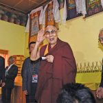 Spiritual leader Dalai Lama during his Tawang visit,photo: UNI
