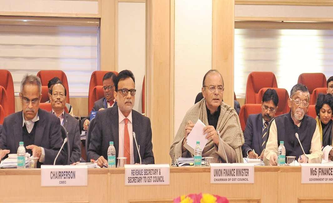Finance Minister Arun Jaitley chairing the GST Council meeting in January this year. Photo: PIB