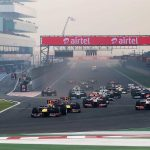 A file picture of Formula One race in India