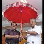 (L-R)Ajith Kumar, Mangalam TV CEO with Kerala CM Pinarayi Vijayan