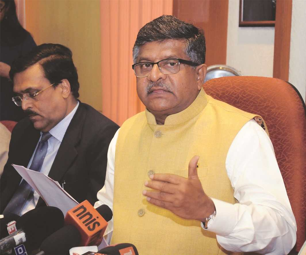Union Law Minister Ravi Shankar Prasad. Photo: UNI