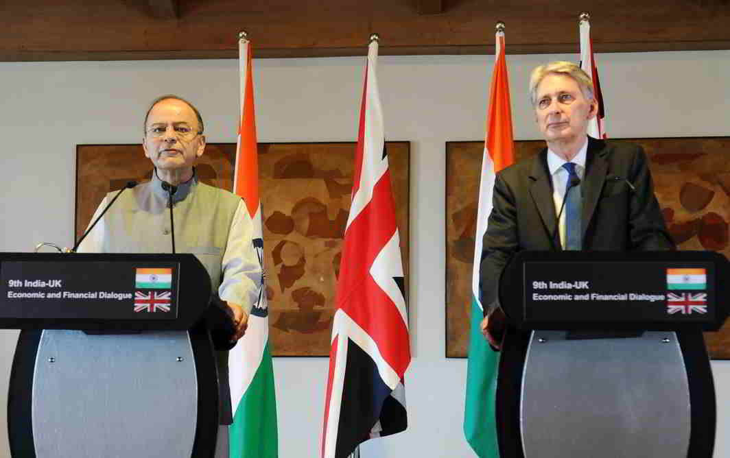 Finance Minister Arun Jaitley took up the extradition of Mallya with his UK counterpart Philip Hammond. Photo: PIB