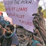 Protesting farmers at Jantar Mantar pleading for loan waivers