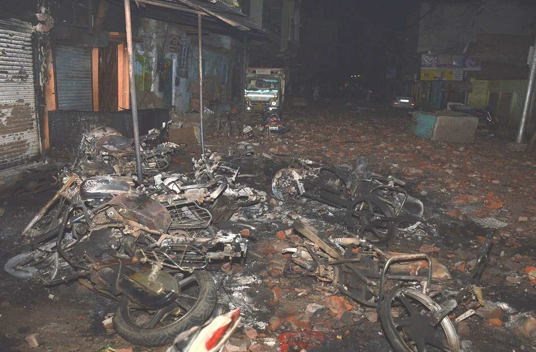A riot-affected area in Aligarh. Photo: UNI