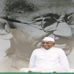 Anna Hazare went on an indefinite fast to exert pressure on the Indian government to enact the Lokpal. Photo: Anil Shakya