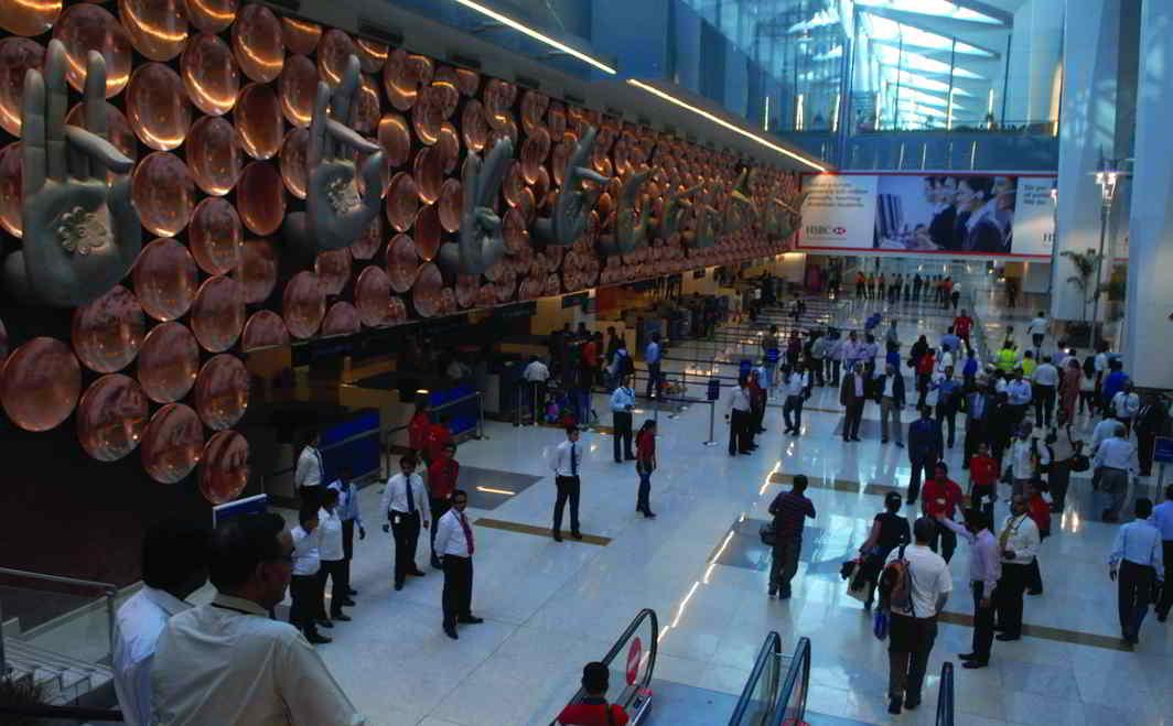 IGI International airport in Delhi managed by GMR. Photo: Rajeev Tyagi