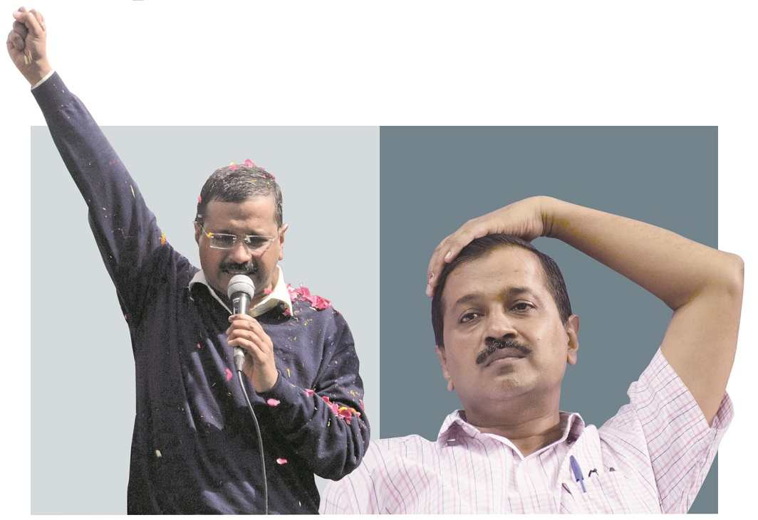 From emerging victorious in the 2015 assembly polls, Delhi CM Arvind Kejriwal is getting increasingly isolated. Photos: UNI