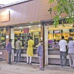 A liquor shop doing brisk business in MP