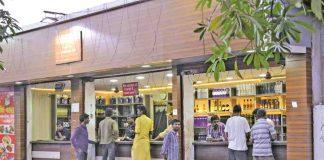 A liquor shop doing brisk business in MP