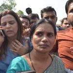 The mother of Nirbhaya, Asha Devi, coming out of the Supreme Court after it upheld the death sentence of four convicts. Photo: UNI
