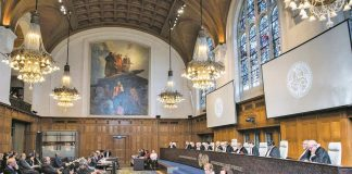 Judges at the International Court of Justice during Jadhav's hearing. Photo: CIJ_ICJ/twitter