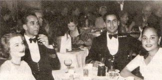 Kawas Nanavati (second from right) and his wife Sylvia (extreme left) in London in 1952