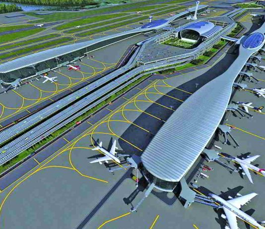 Eyebrows have been raised at the manner in which GVK bagged the Navi Mumbai Airport contract. Picture: An artist's impression