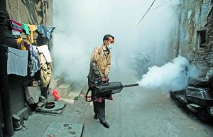 Fogging during a dengue outbreak in Old Delhi. Photo: Anil Shakya